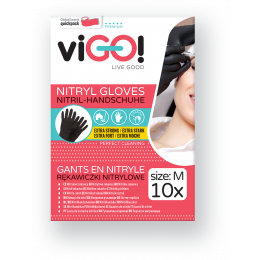 Nitrile gloves black size M - 10 pcs